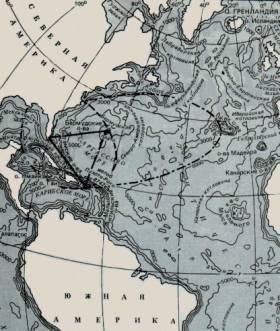 Карта бермудсккого треугольника